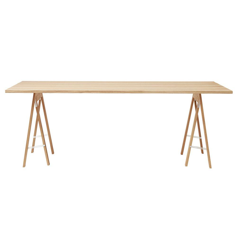 Linear Tischplatte - Eiche weiß geölt 205 x 88 cm