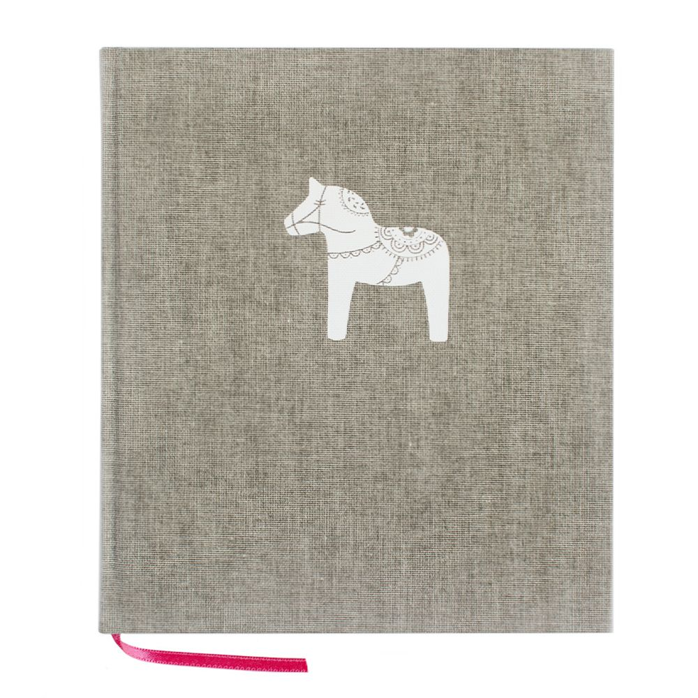 Notizbuch Dalapferd - grau 21 x 24 cm