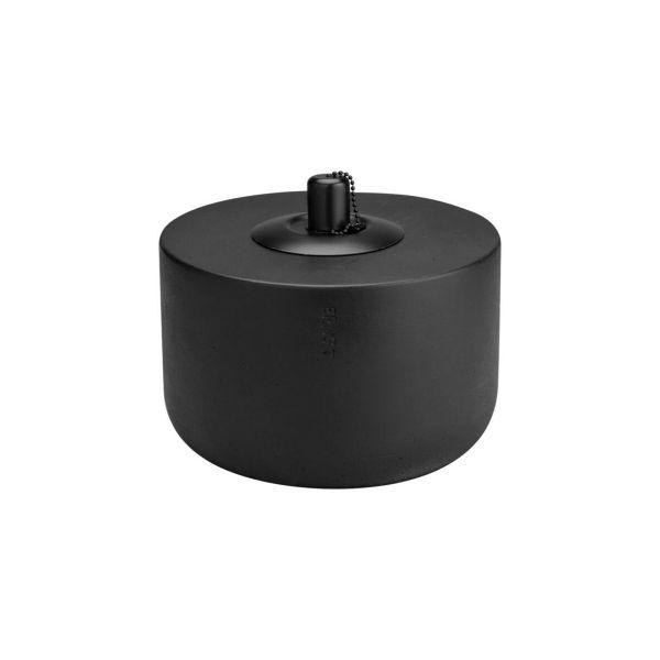 Öllampe - schwarz groß