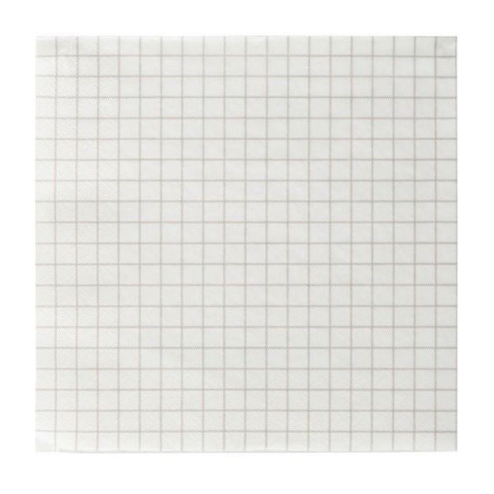 Papierservietten Check - beige