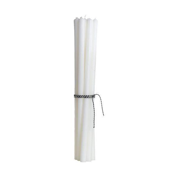 Pencil Kerzen extralang - weiß 10 Stk.