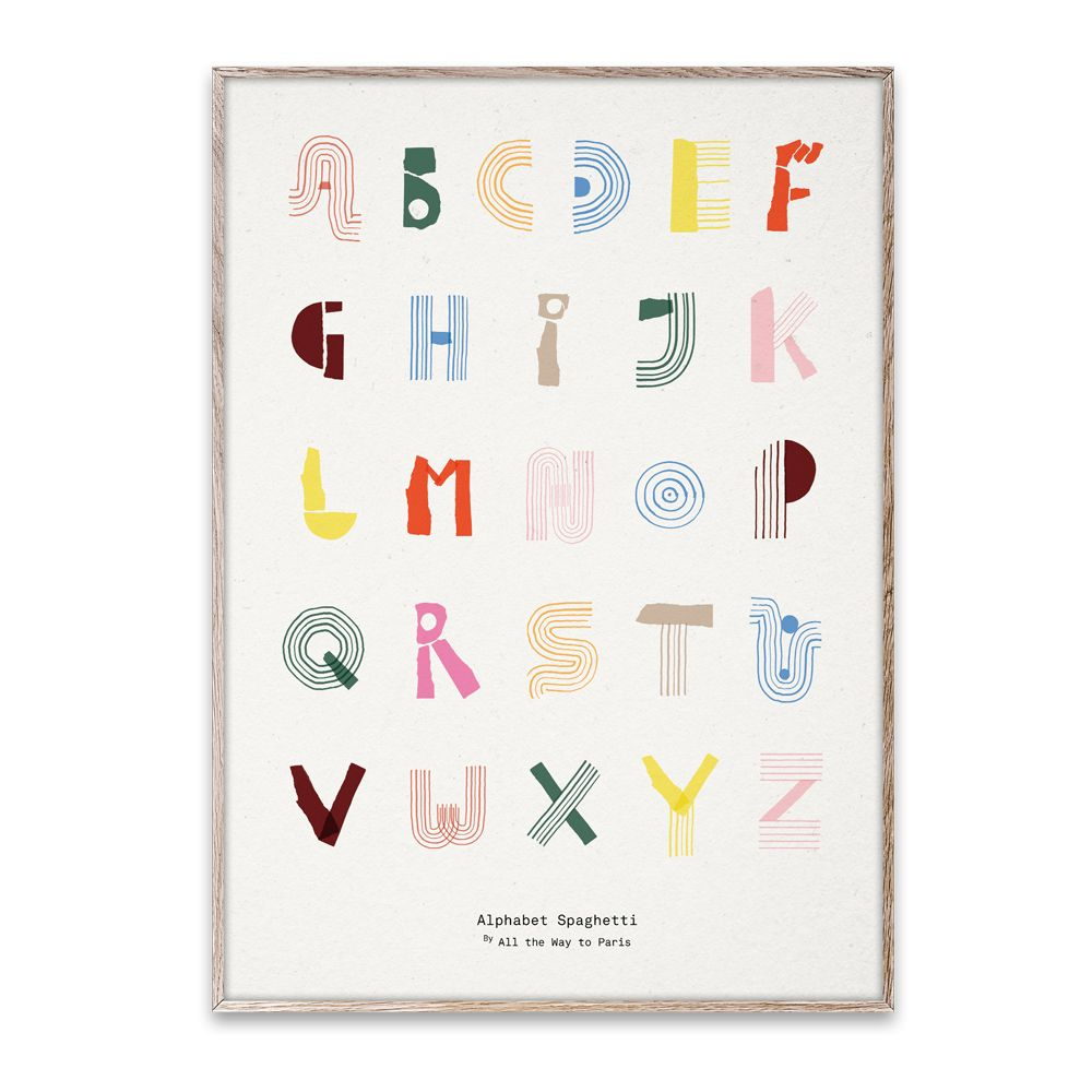 Poster - Alphabet Spaghetti - englisch 50x70 cm