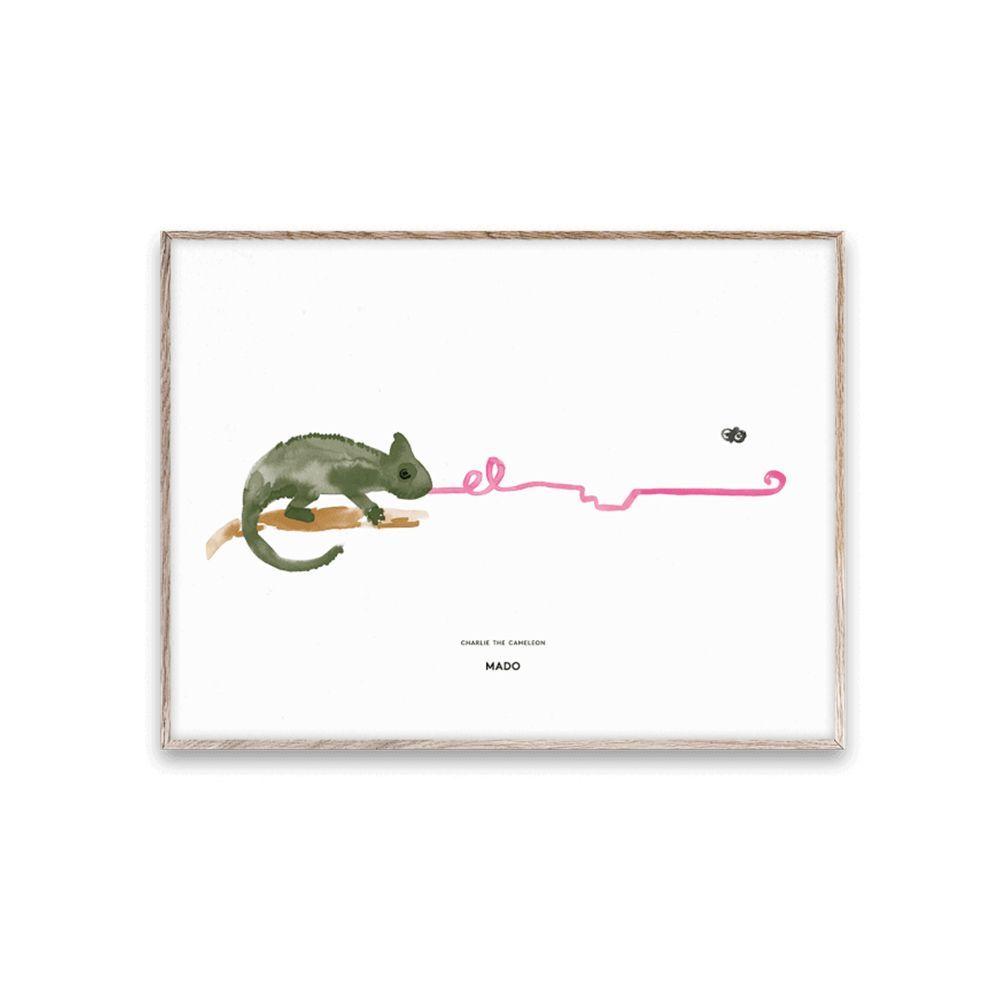 Poster - Charlie the Chameleon - 30x40 cm