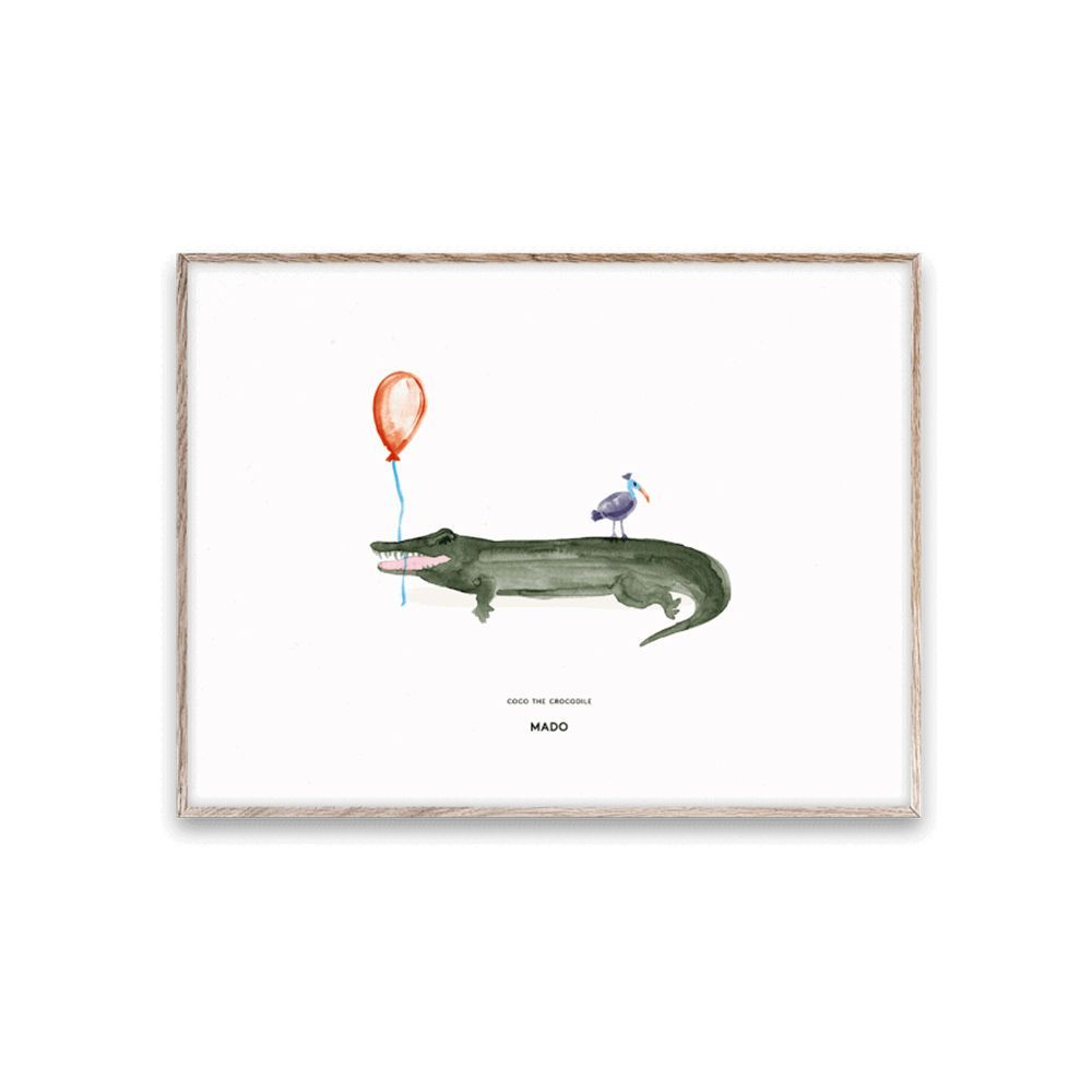 Poster - Coco the Crocodile - 30x40 cm