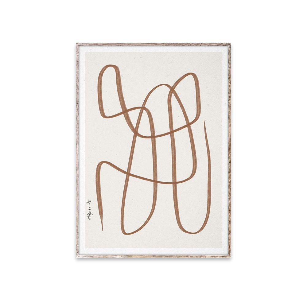 Poster - Different Ways - Brown - 30x40 cm