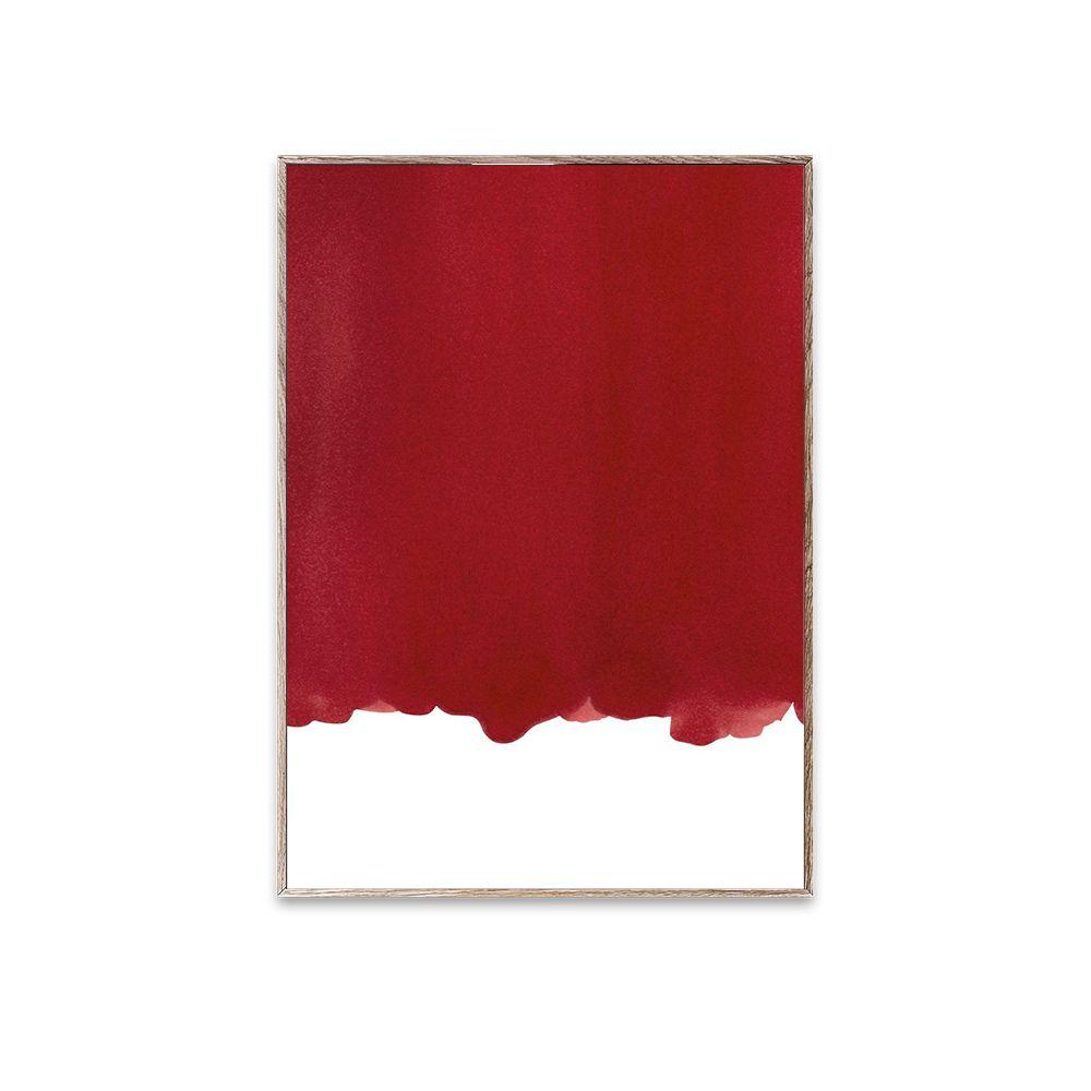Poster - Ensō - Red I - 30x40 cm
