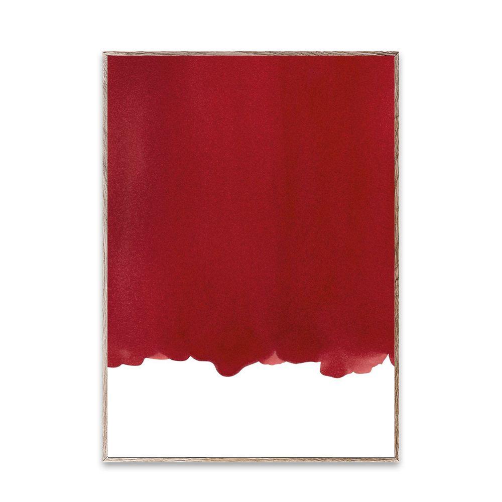 Poster - Ensō - Red I - 50x70 cm