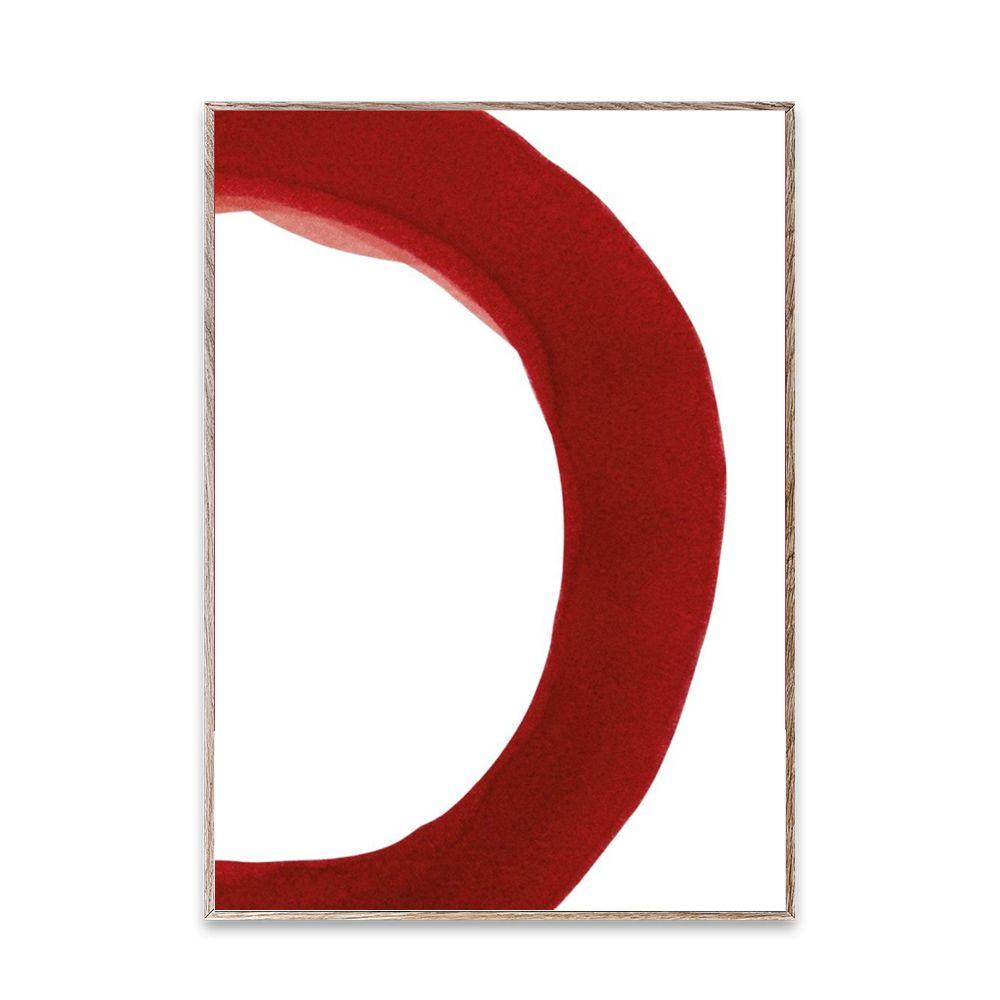 Poster - Ensō - Red II - 50x70 cm