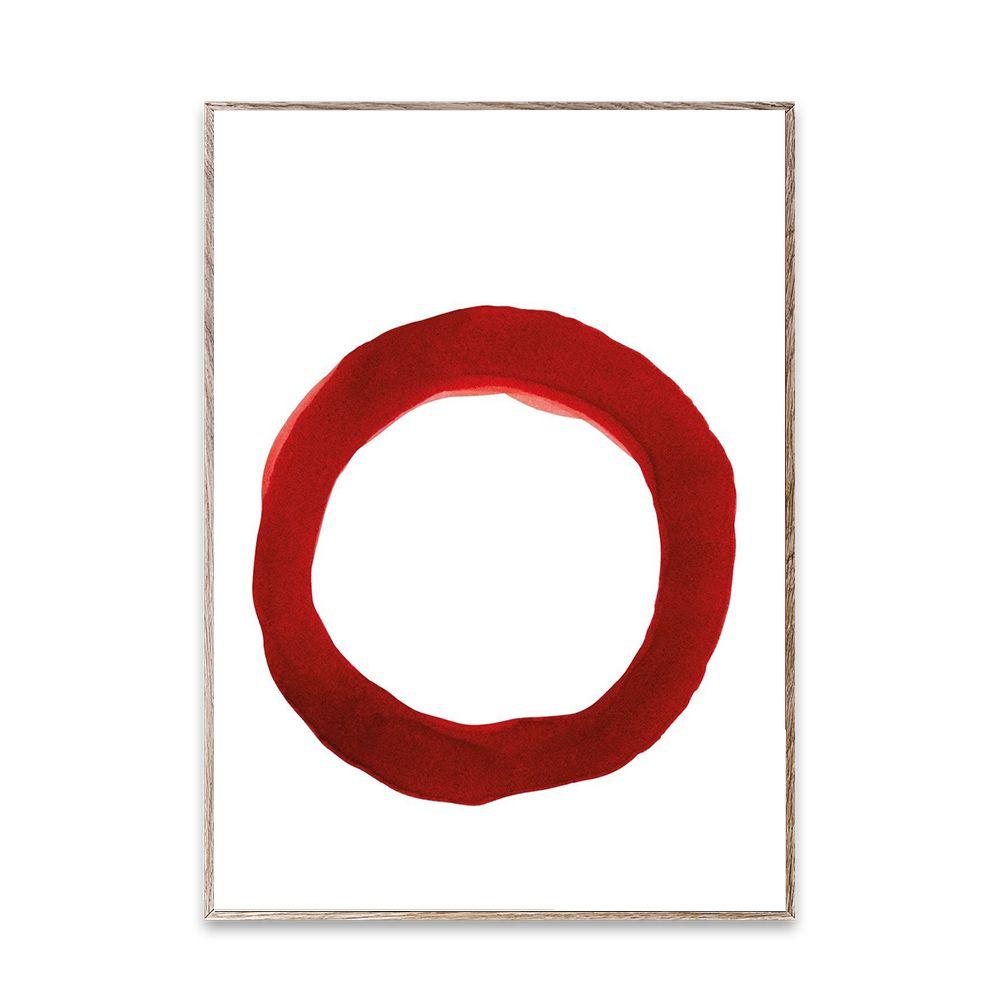 Poster - Ensō - Red IV - 50x70 cm