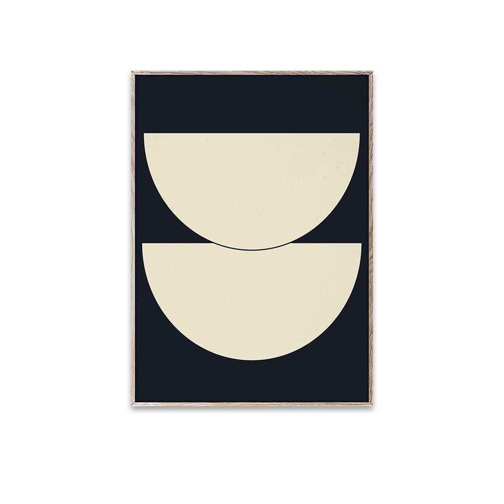 Poster - Half Circles I - Blue - 30x40 cm