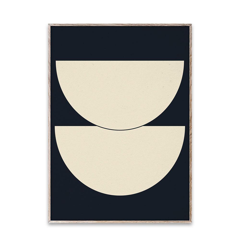 Poster - Half Circles I - Blue - 50x70 cm