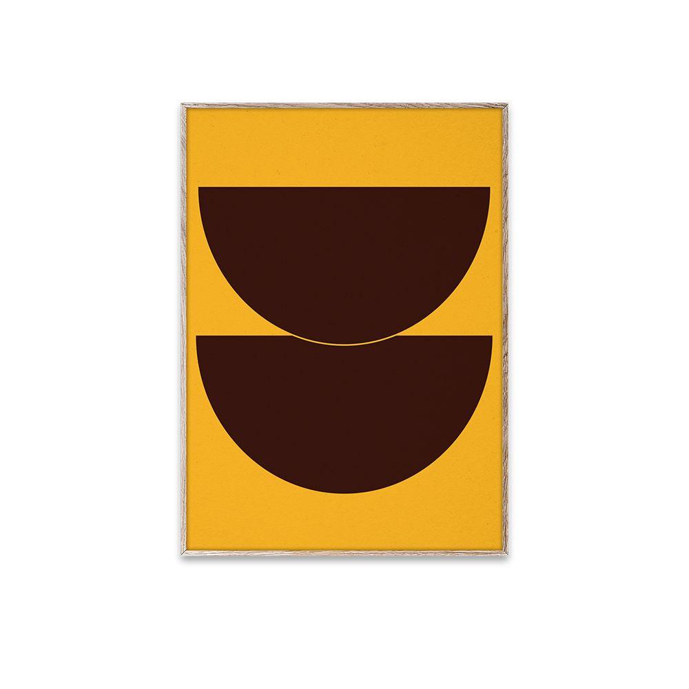 Poster - Half Circles II - Yellow - 30x40 cm
