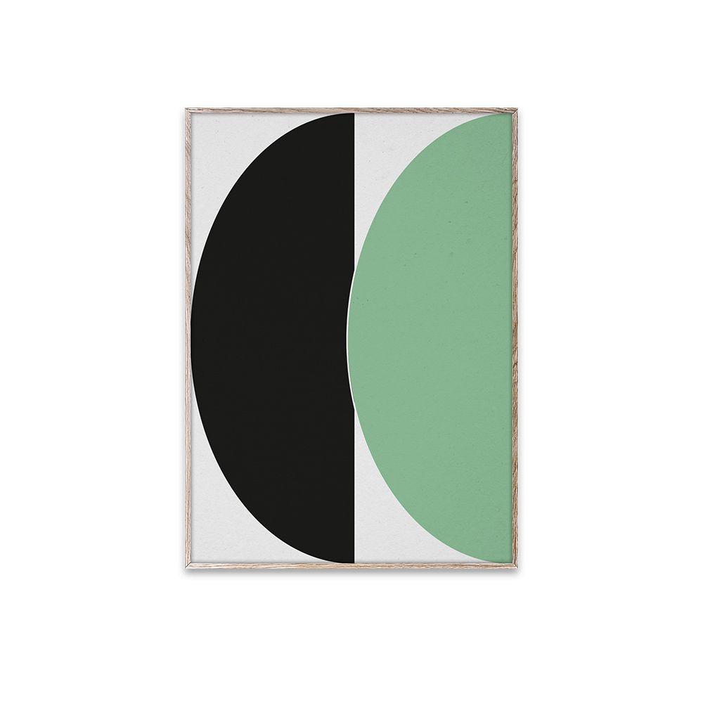 Poster - Half Circles III - Green/Blue - 30x40 cm