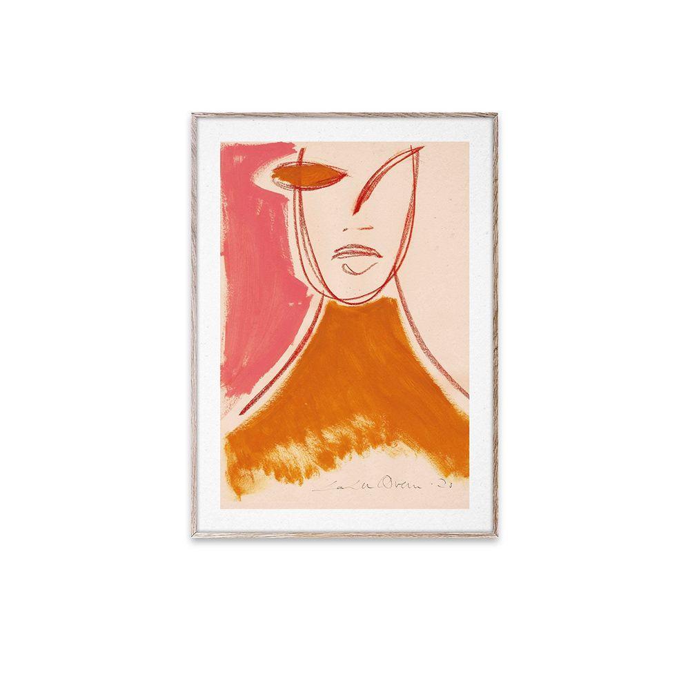 Poster - Pink Portrait - 30x40 cm