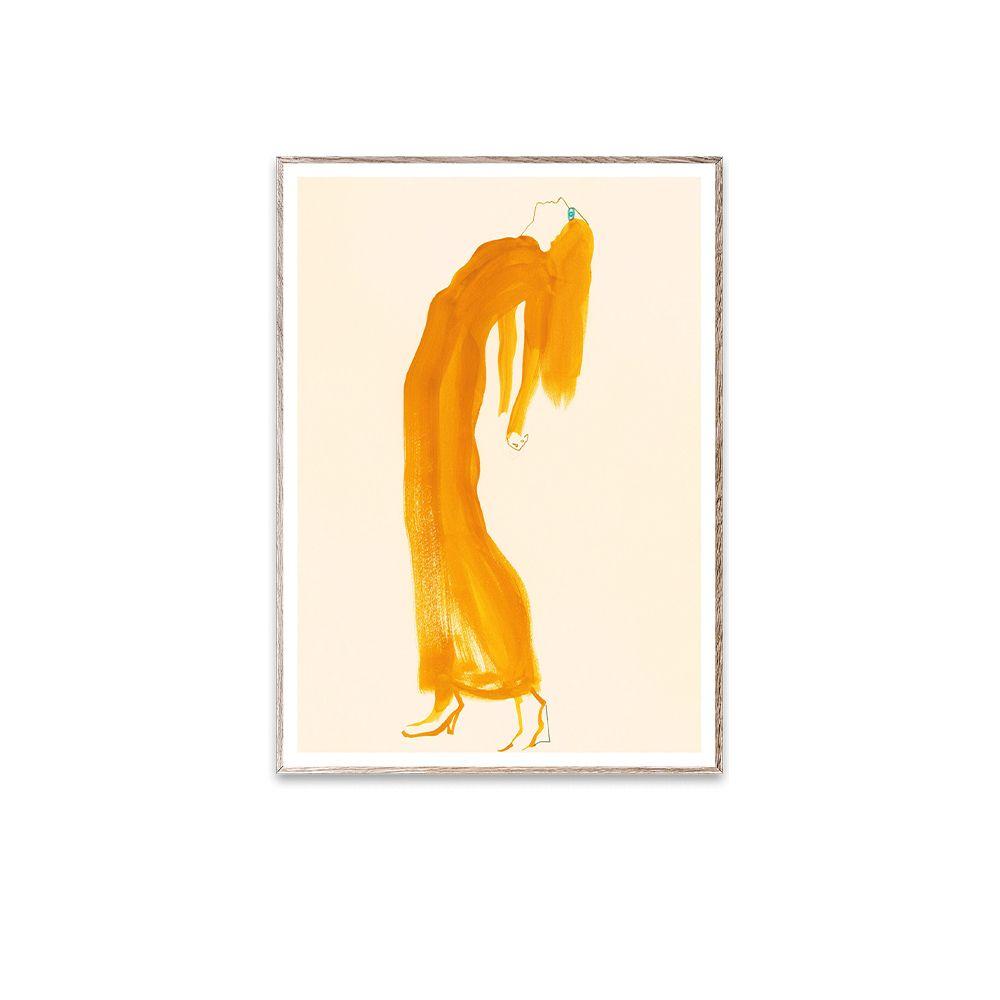 Poster - The Saffron Dress - 30 x 40 cm