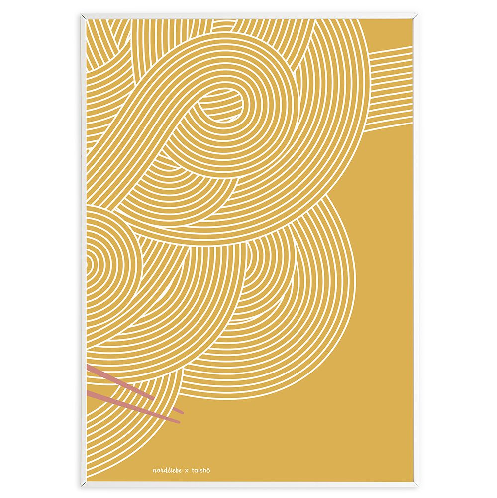 Poster Udon #2 - curry 50 x 70 cm