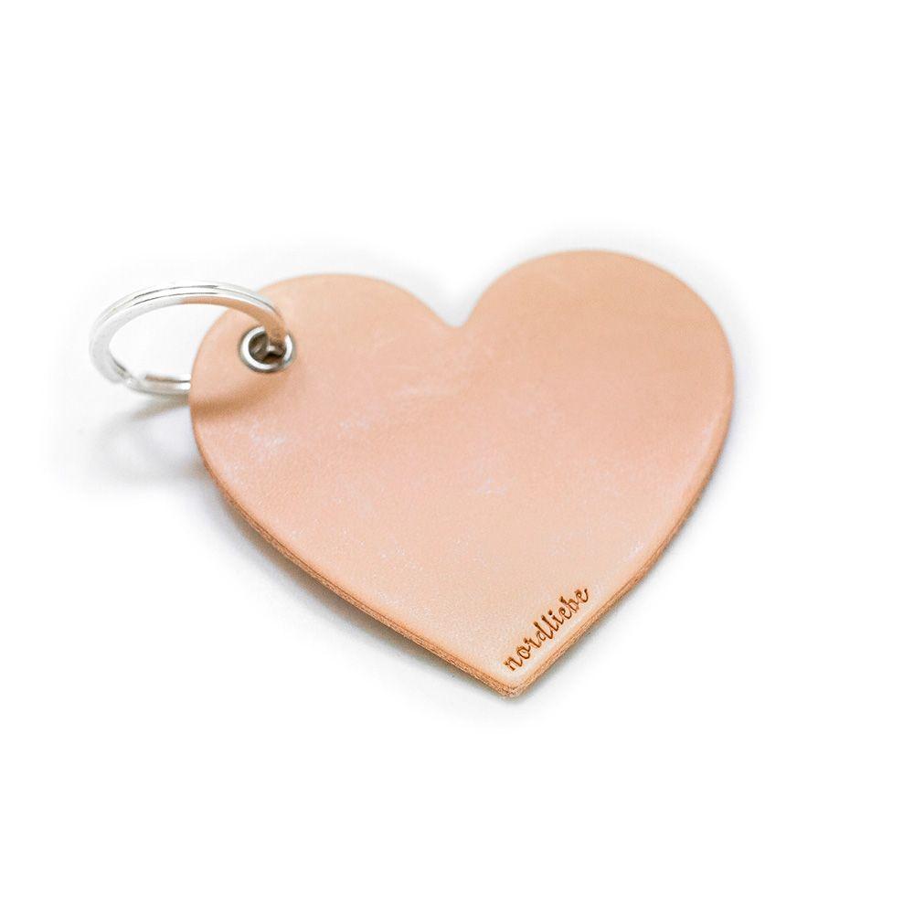 Schlüsselanhänger aus Leder - Herz