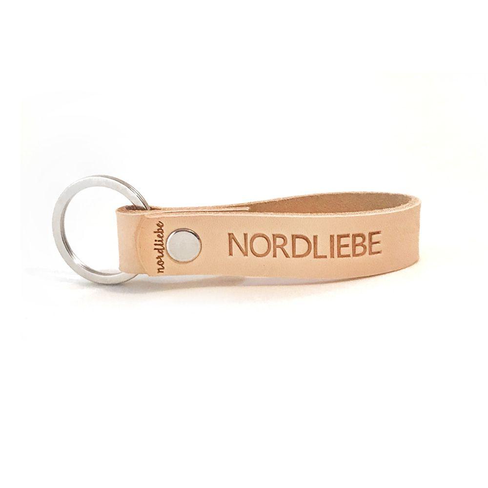 Schlüsselanhänger aus Leder - Nordliebe