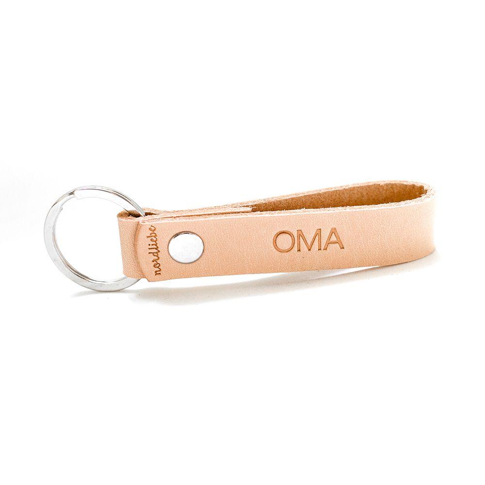 Schlüsselanhänger aus Leder - Oma