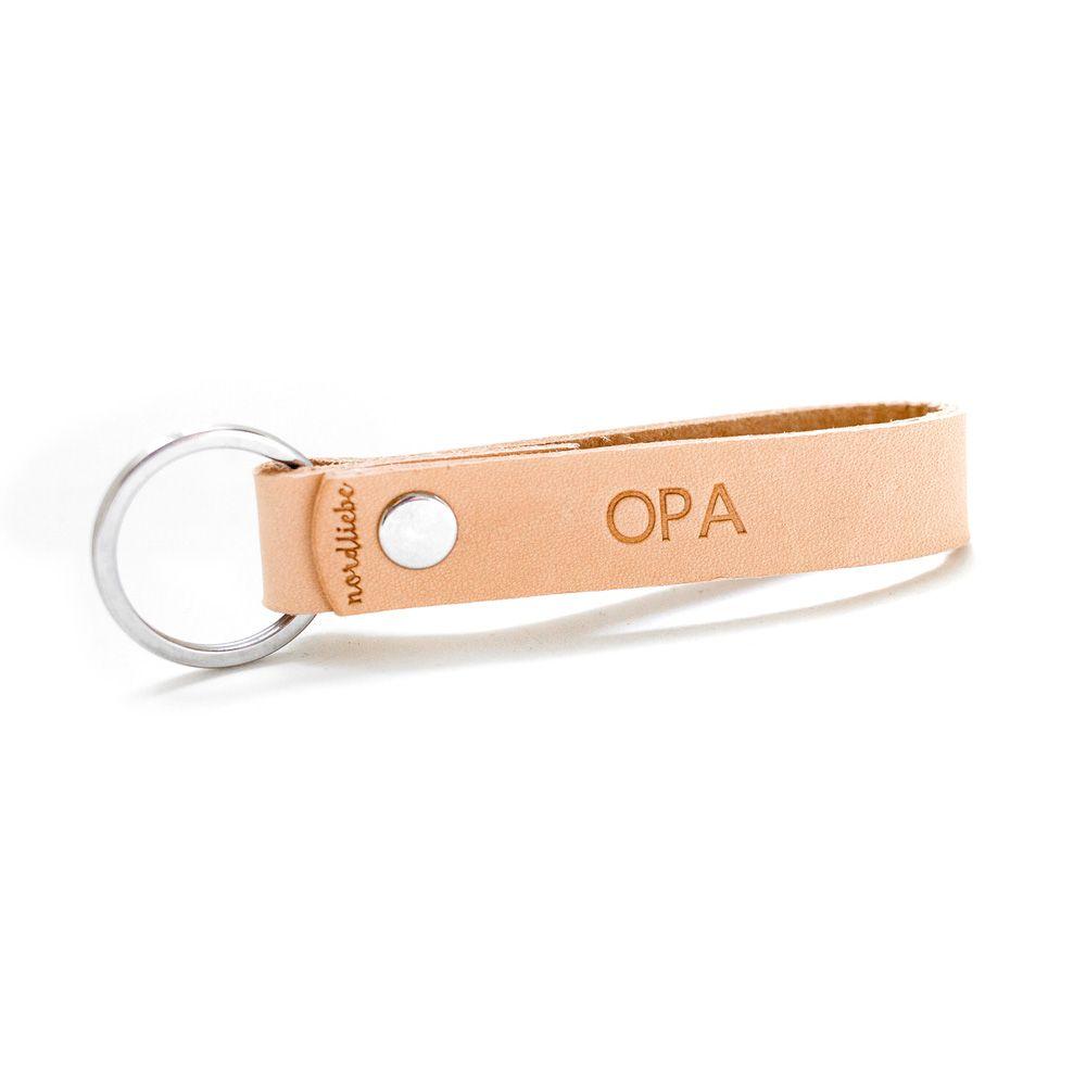 Schlüsselanhänger aus Leder - Opa