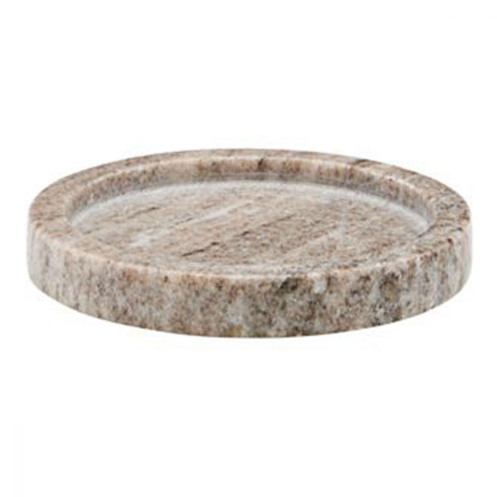 Servierteller aus Marmor - beige Ø 12,5 cm