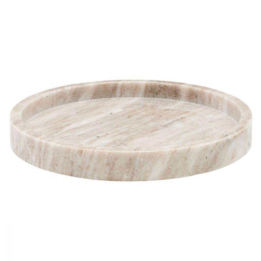 Servierteller aus Marmor - beige