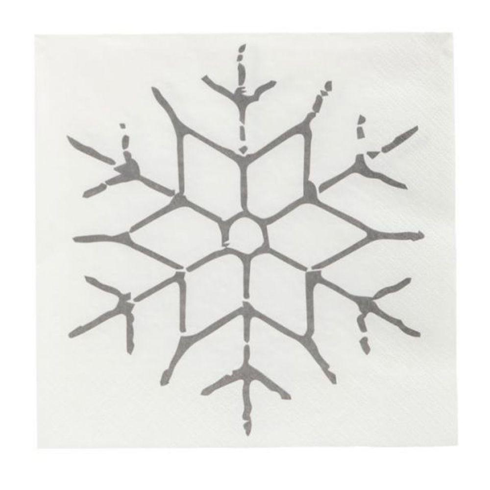Servietten Snowflake - schwarz