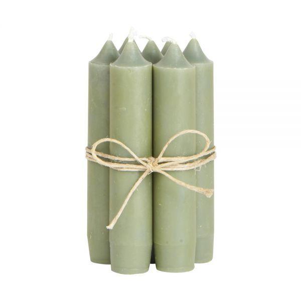 Stabkerzen kurz - olive 8 Stk.