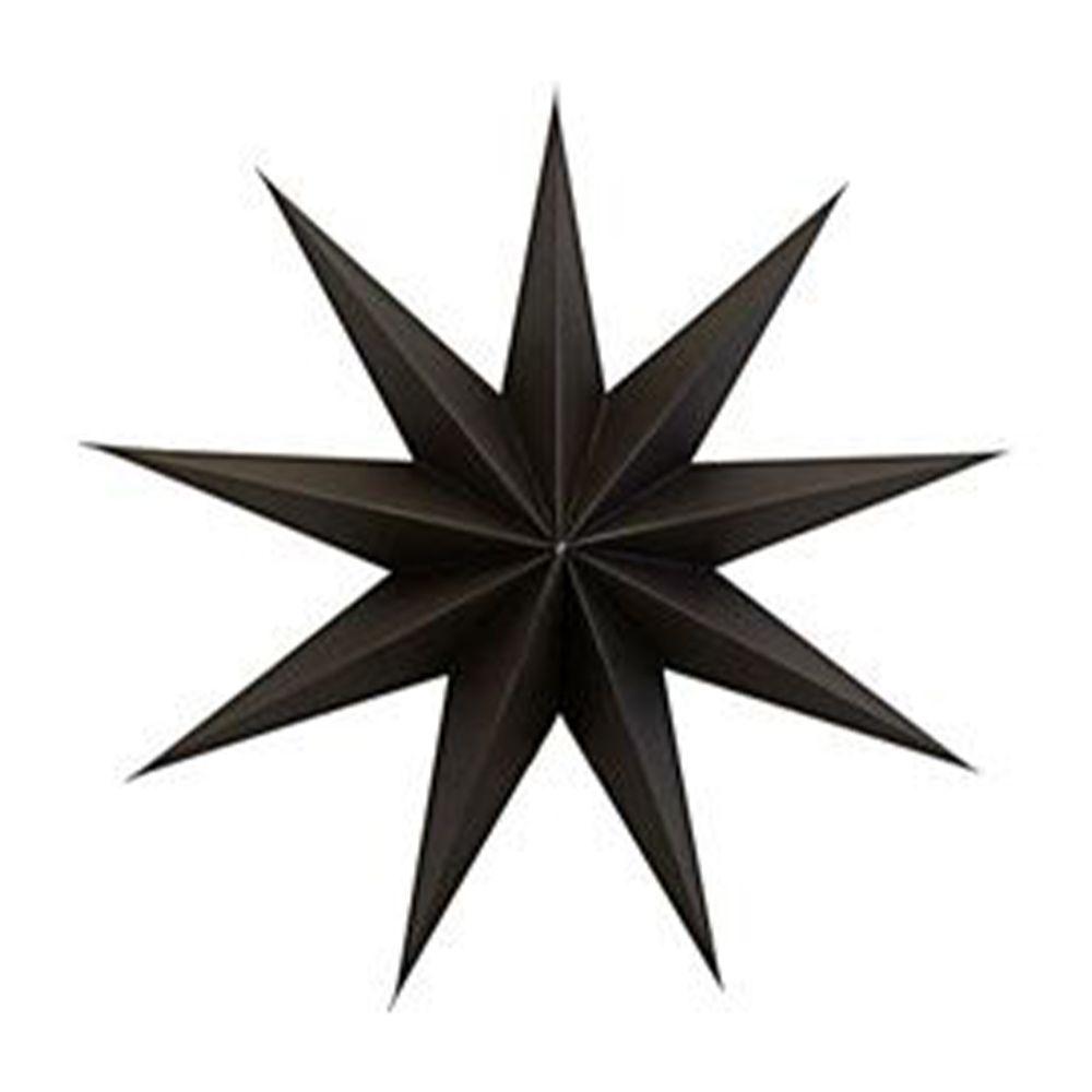 Stern aus Papier 9 Points 45 cm - braun