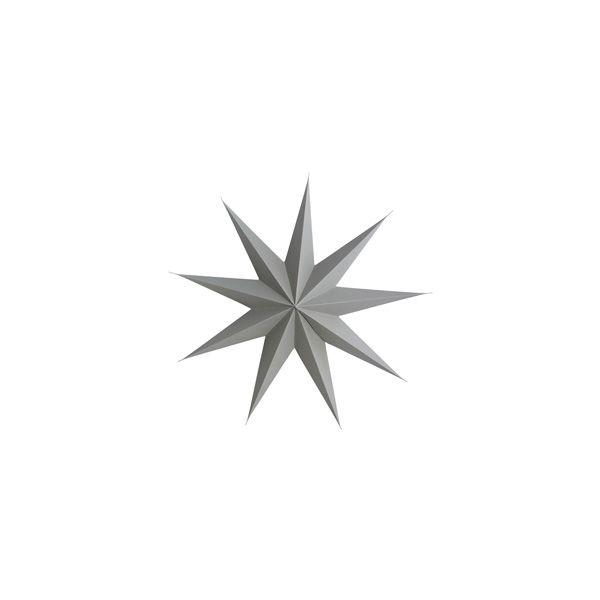 Stern aus Papier 9 Points 45 cm - grau