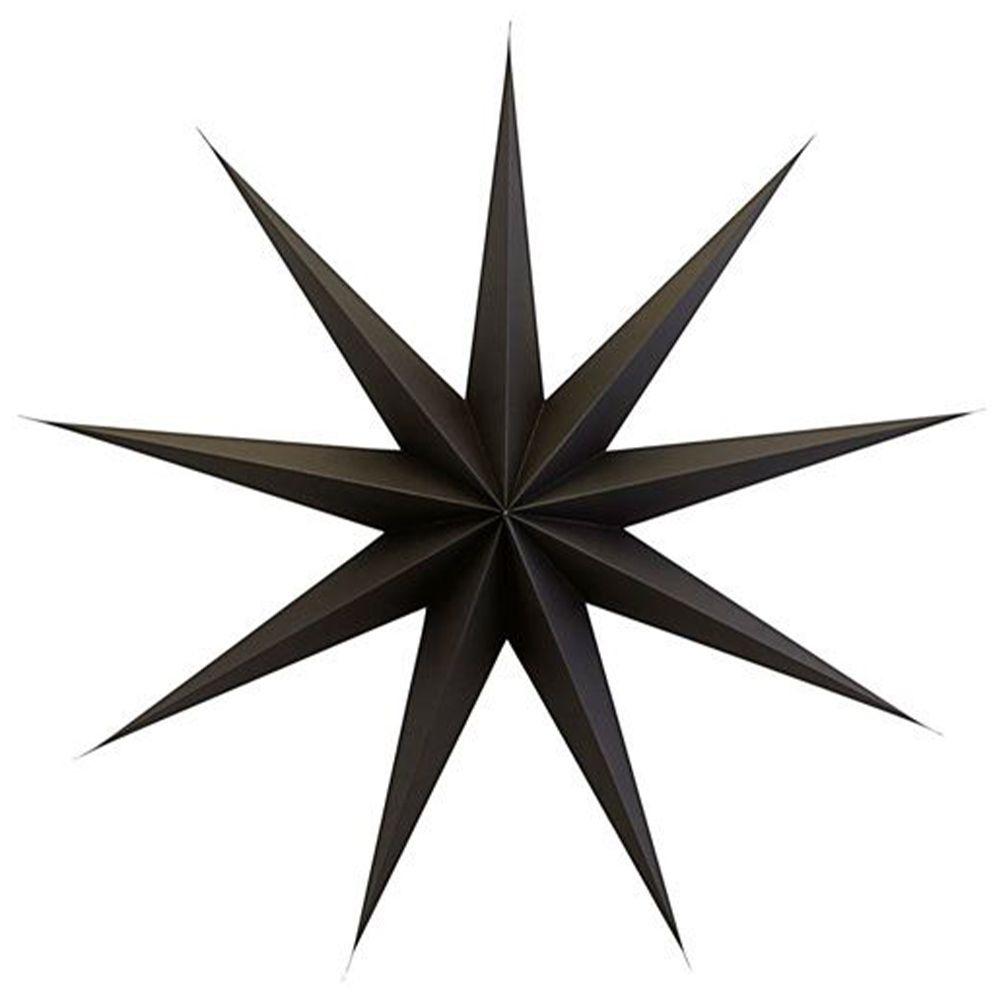 Stern aus Papier 9 Points 87 cm - braun