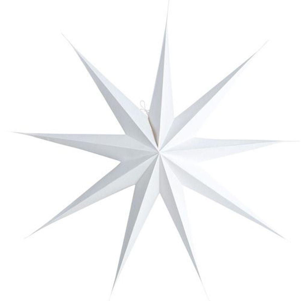Stern aus Papier 9 Points 87 cm - weiss