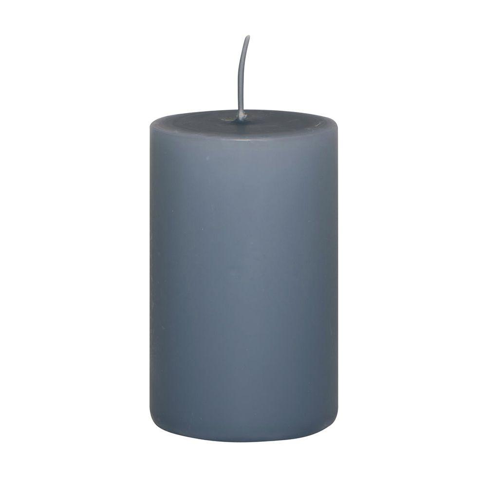 Stumpenkerze - taubenblau 10 cm