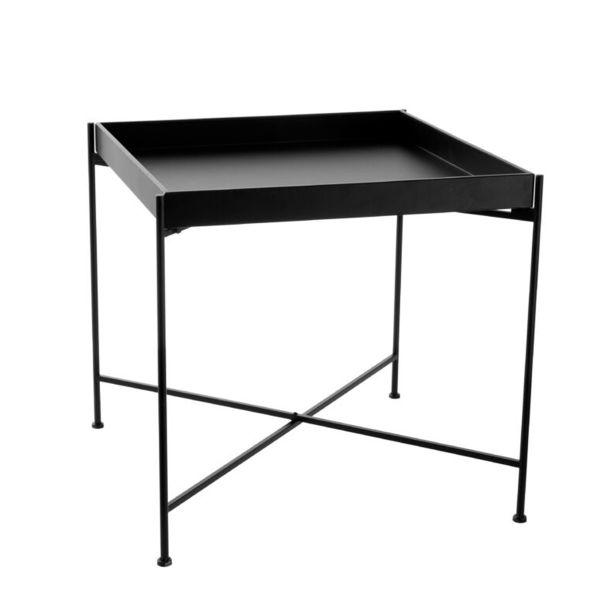 Tablett-Tisch - 55 x 55 x 45 cm schwarz