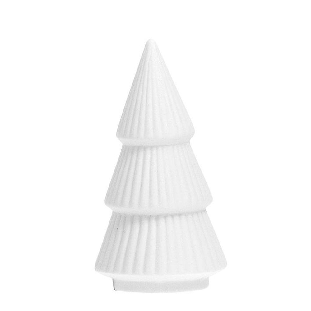 Tannenbaum aus Keramik GRANSUND - weiß XS
