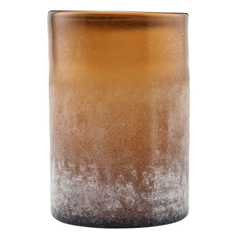 Teelichthalter Mist - braun groß