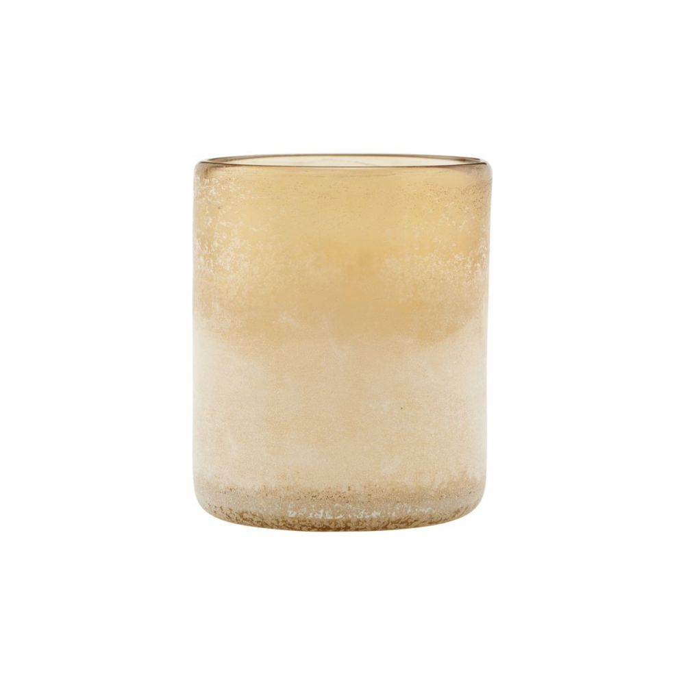 Teelichthalter Mist - hellbraun klein