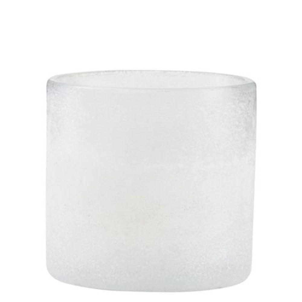 Teelichthalter Mist - weiß klein