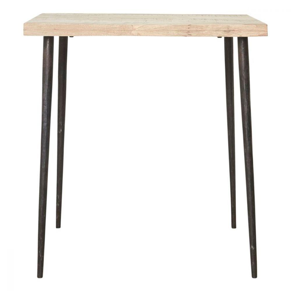 Tisch Slated aus Eisen - 70 x 70 cm
