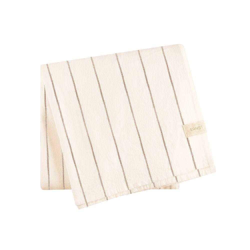 Tischdecke - weiß/braun 140 x 300 cm