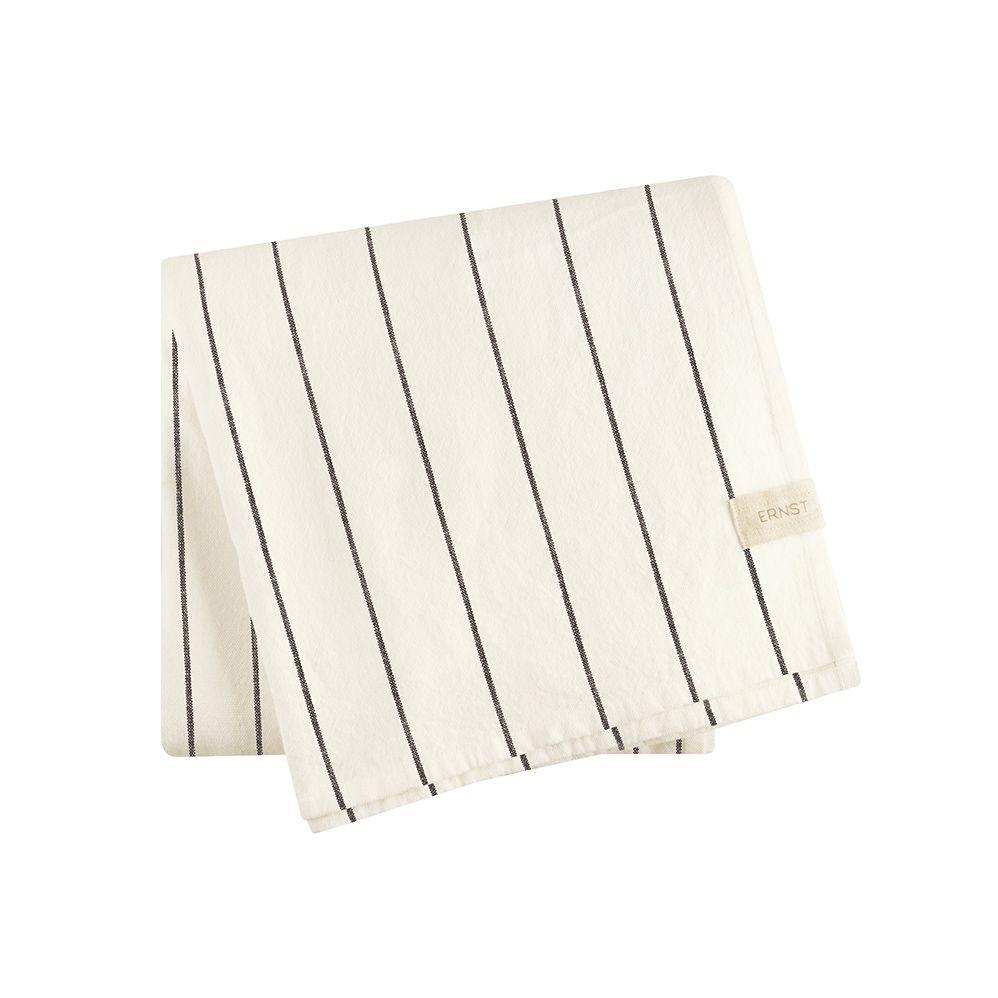 Tischdecke - weiß/schwarz 140 x 200 cm