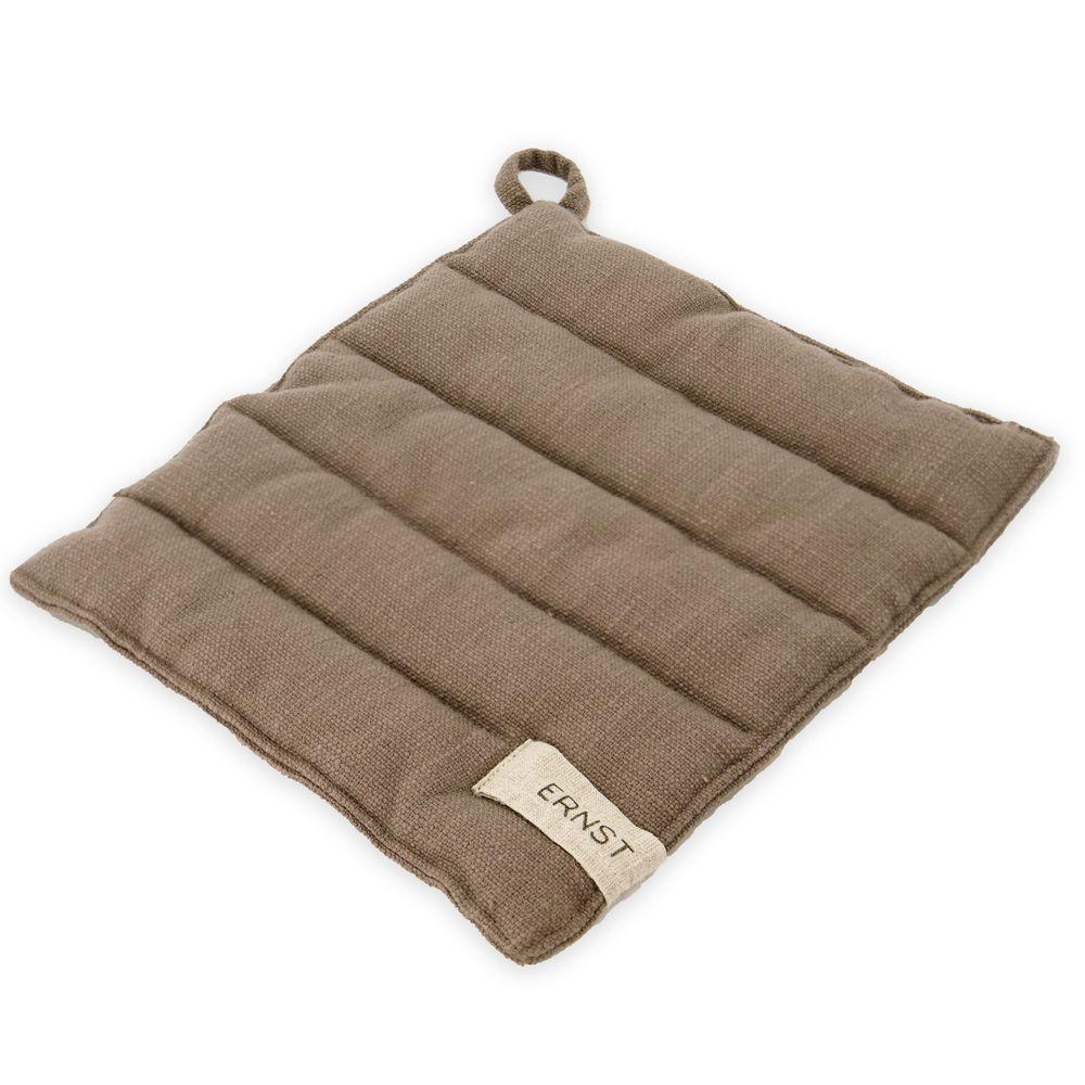 Topflappen aus Baumwolle - braun