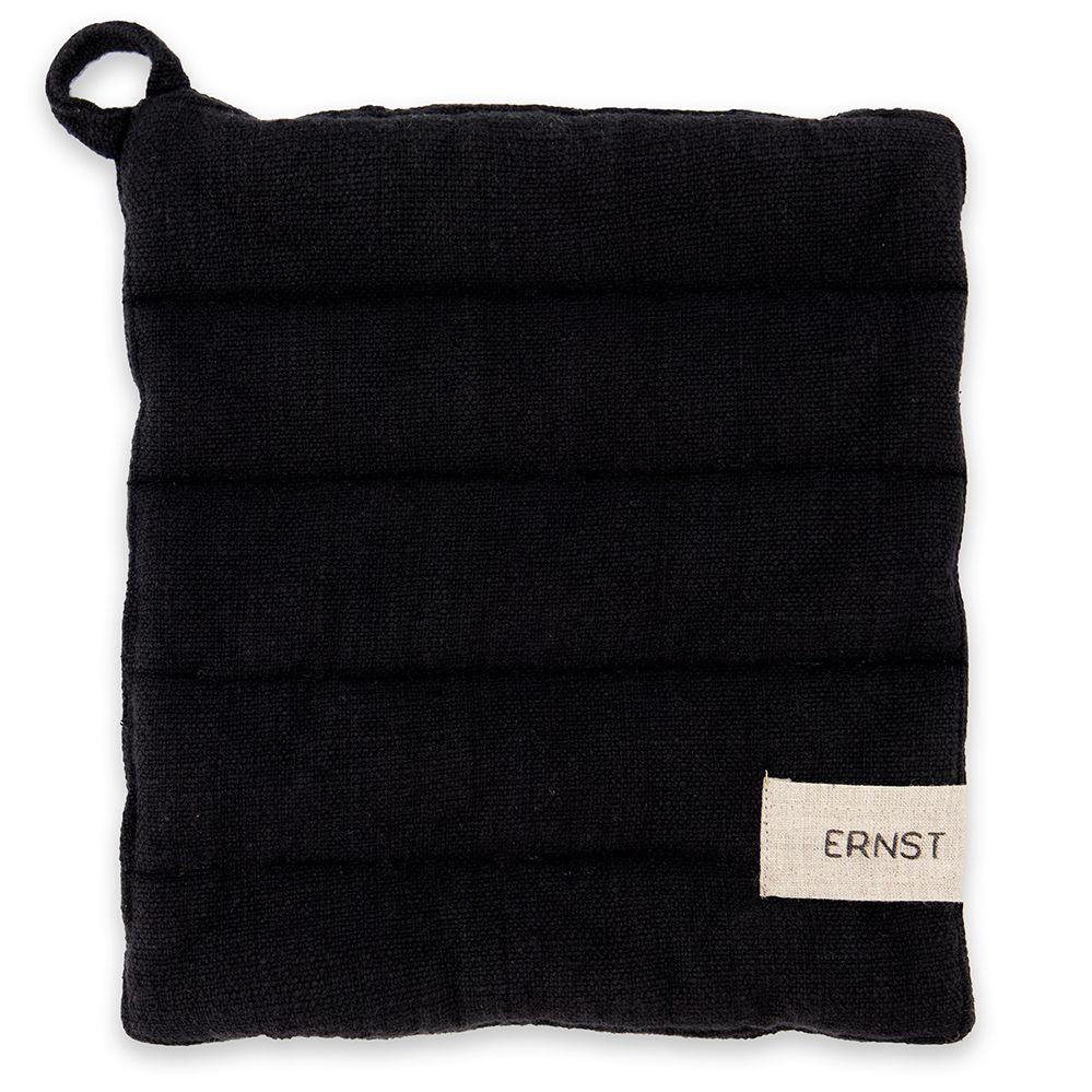 Topflappen aus Baumwolle - schwarz