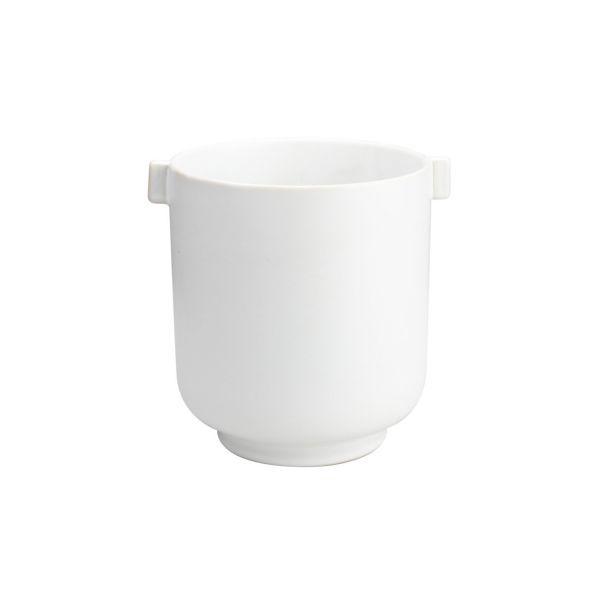 Übertopf mit Griffen - weiß 22,5 cm