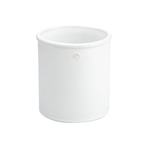 Übertopf - weiß 15,6 cm