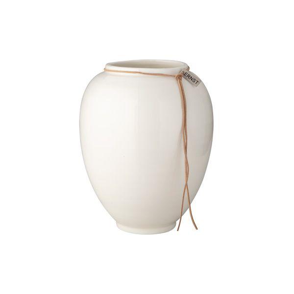 Vase aus Keramik - glänzend weiß 22 cm