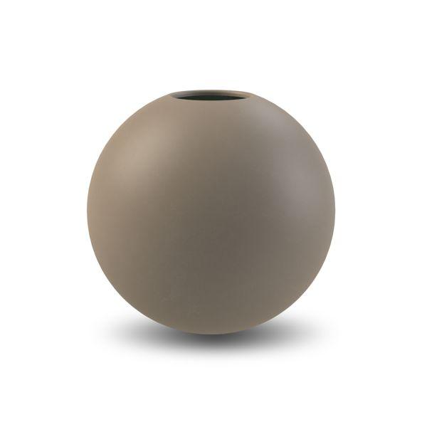 Vase aus Keramik - rund mud 20 cm