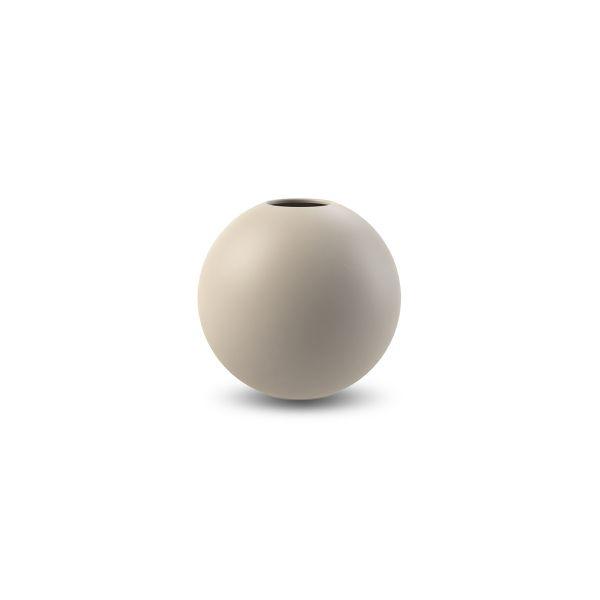 Vase aus Keramik - rund sand 10 cm
