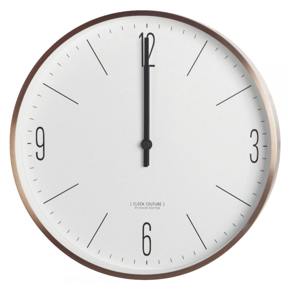 Wanduhr Clock Couture - weiß/gold