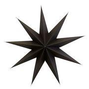 Stern aus Papier 9 Points 60 cm - braun